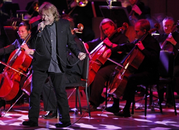 Lou Gramm, former lead singer with Foreigner, performs with the Buffalo Philharmonic Orchestra at Kleinhans Music Hall Friday night. (Harry Scull Jr. /Buffalo News)