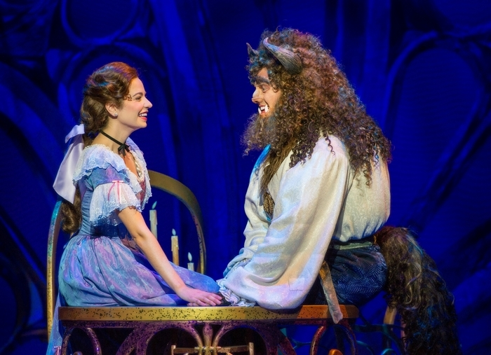 """Darick Pead as Beast and Hilary Maiberger as Belle star in Disney's """"Beauty and the Beast,"""" on stage at Shea's through Sunday."""