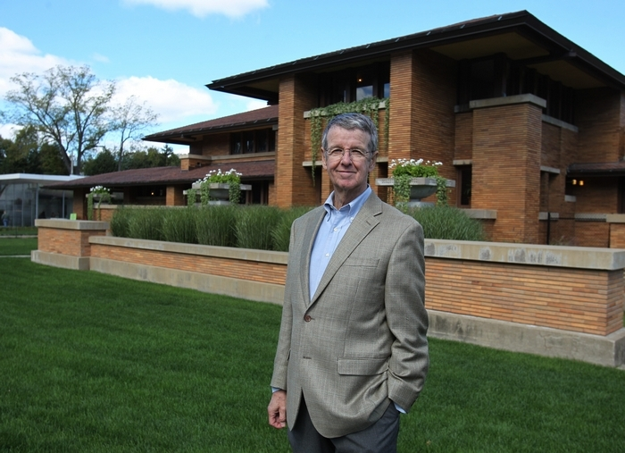 Frank Lloyd Wright scholar Jack Quinan, a UB art historian who has written three books on the architect, opens a three-part lecture series on Wright and Modernism at 7 p.m. today in Martin House Complex's Greatbatch Pavilion. (Sharon Cantillon/Buffalo News)