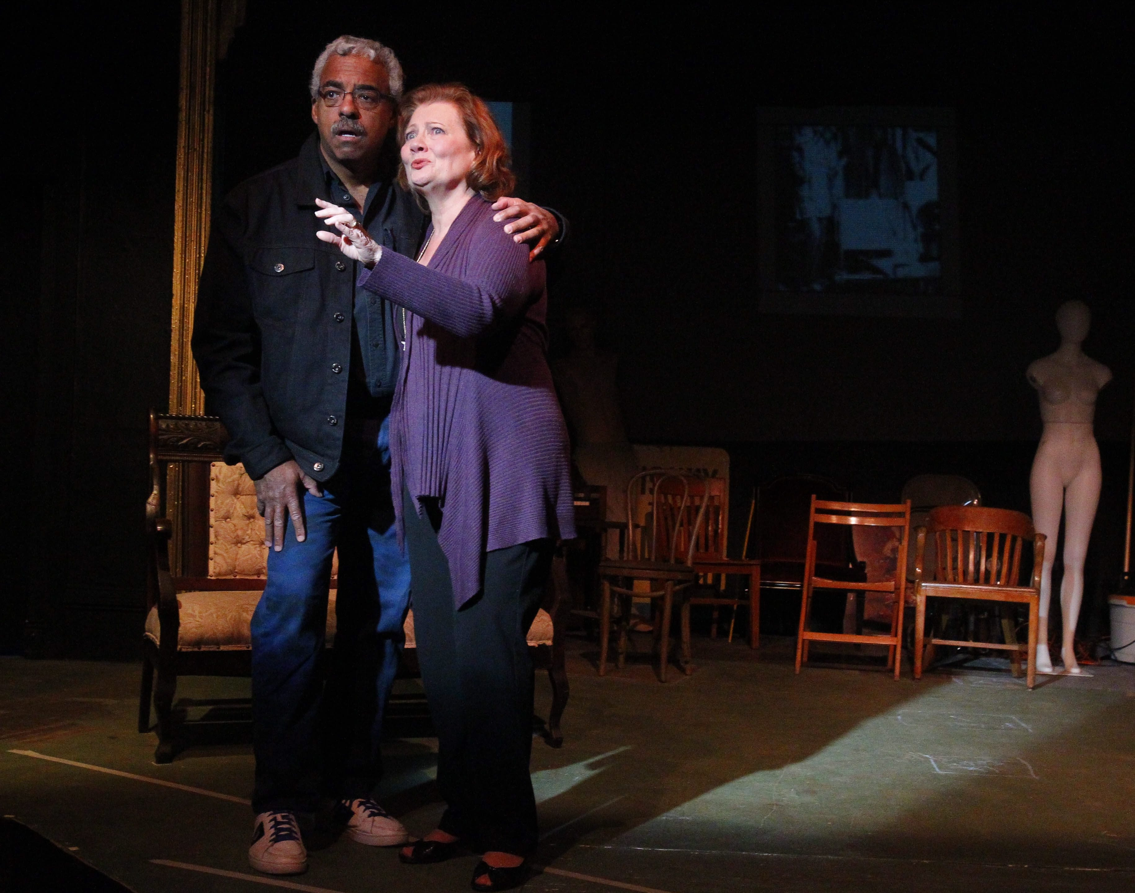 """Gary Earl Ross and Barbara Link LaRou star in A.R. Gurney's """"Buffalo Gal,"""" opening Friday in the New Phoenix Theatre."""