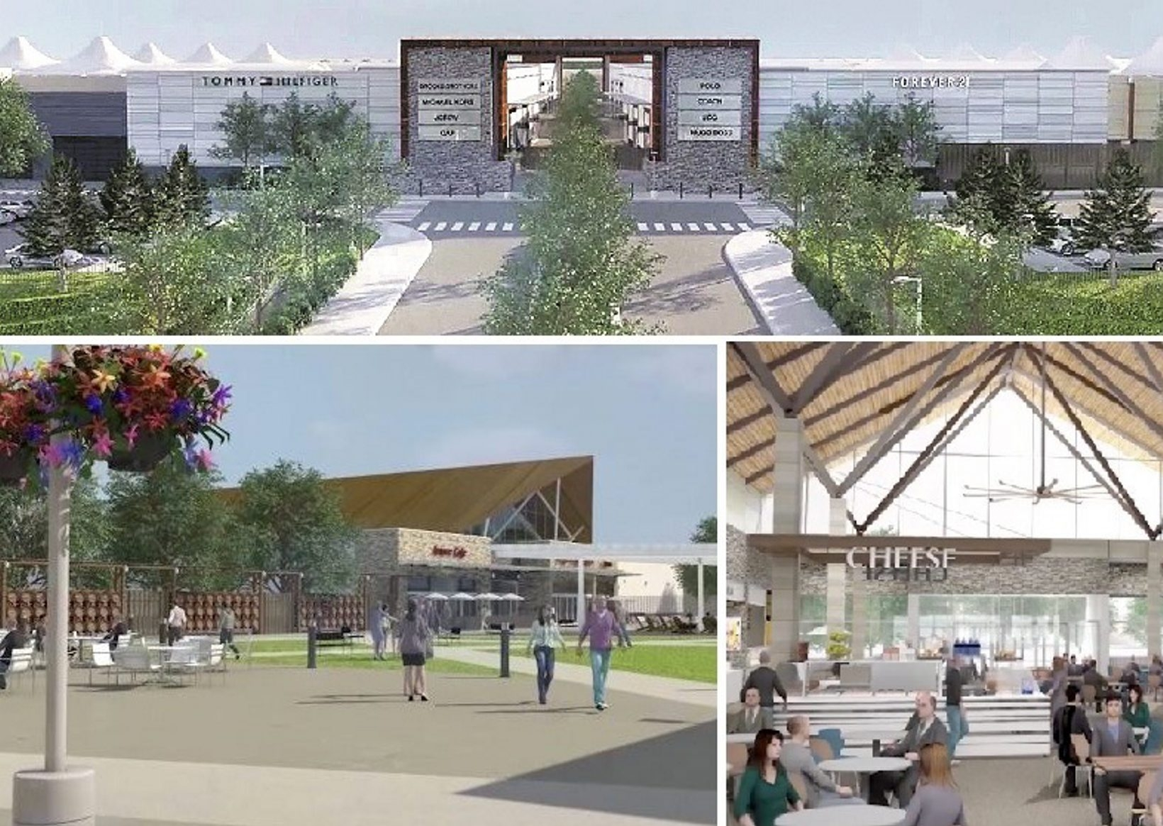 Outlet Collection at Niagara will have open-air design, outdoor common areas and partly covered walkways.