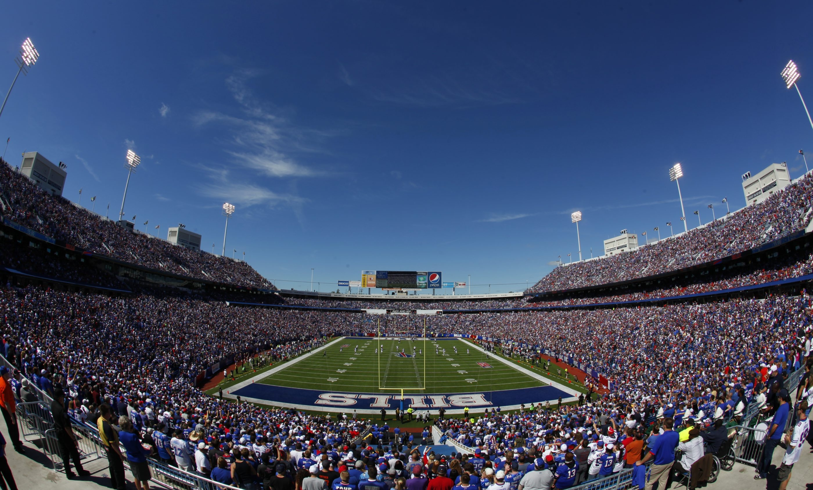 An overall of Ralph Wilson Stadium before the Buffalo Bills played the New England Patriots last Sept. 8. Under the new variable pricing system for individual tickets, the home games against the Patriots and Miami Dolphins will be the most expensive. ( Harry Scull Jr. / Buffalo News file photo)