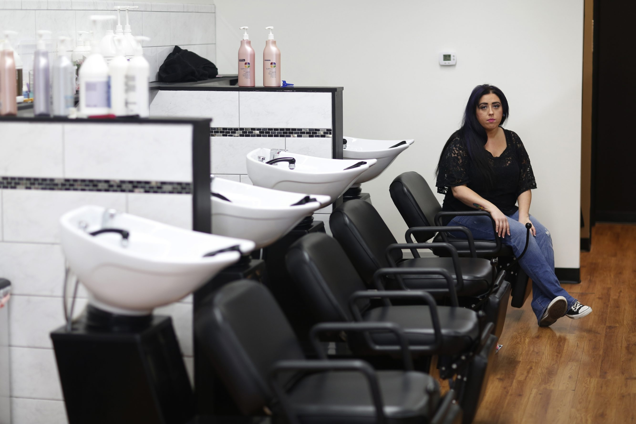 """I'm starting at the bottom,"" says Brittany Himes, 28, who is making $7.20 an hour, with $27,000 in student loans, as an appren- tice stylist at a salon in Richmond, Ky., four years after graduating with a degree in business from Eastern Kentucky University."