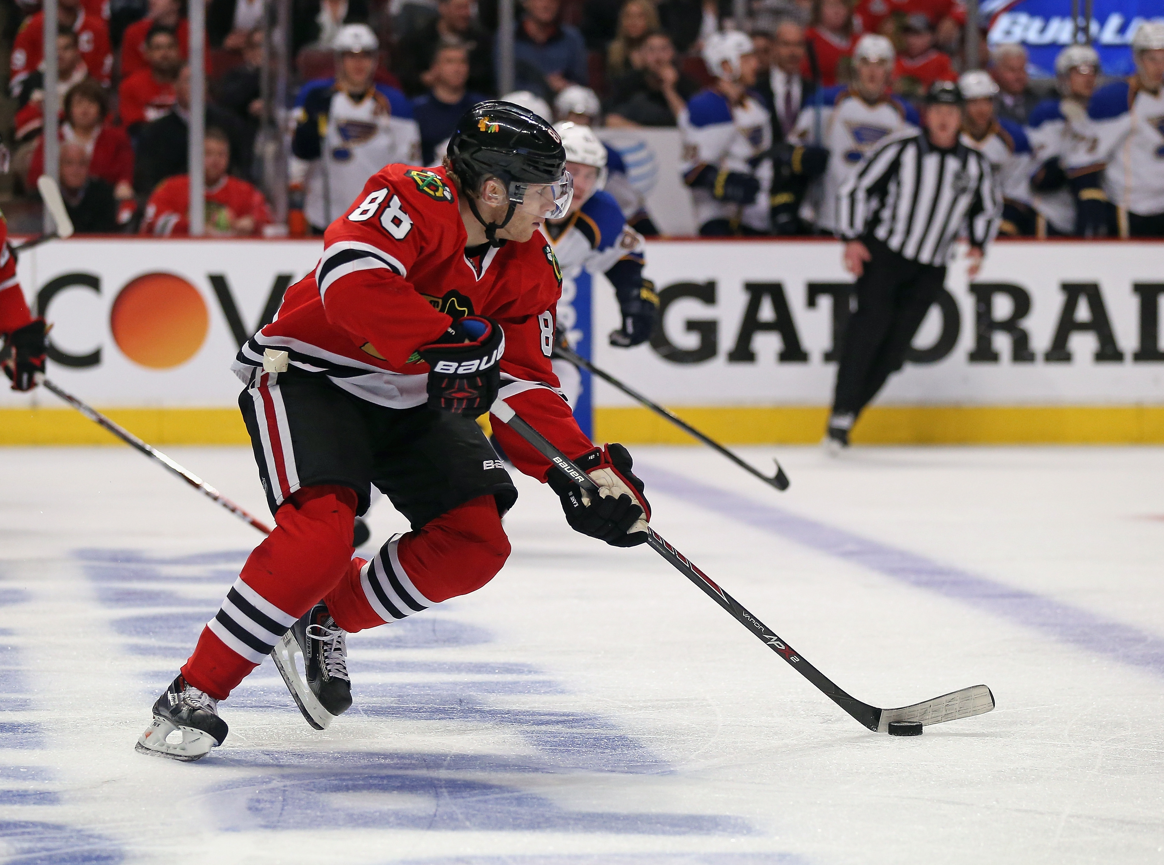 Patrick Kane and the Chicago Blackhawks are 6-0 in games in which a series can be clinched during coach Joel Quenneville's tenure.