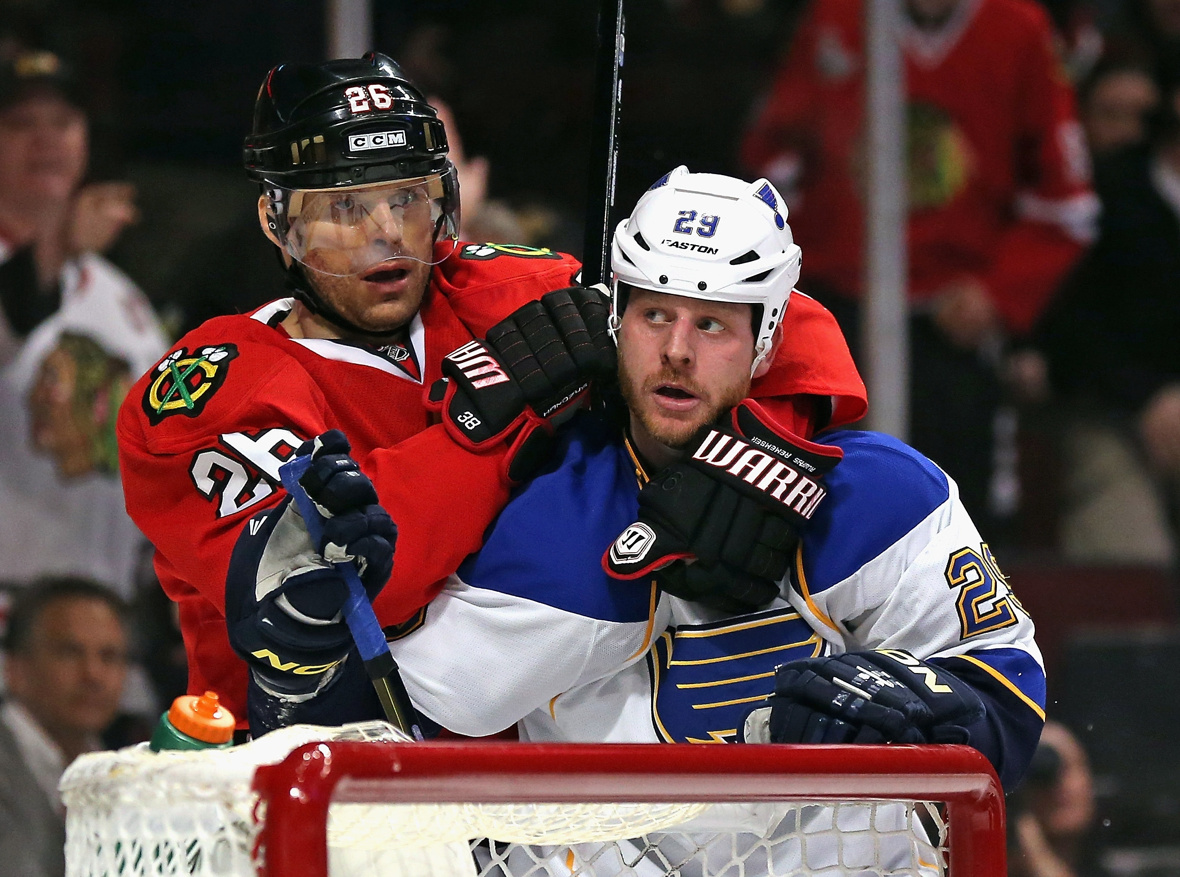 St. Louis Blues forward Steve Ott is a good fit for playoff hockey, as his team takes on the Chicago Blackhawks.
