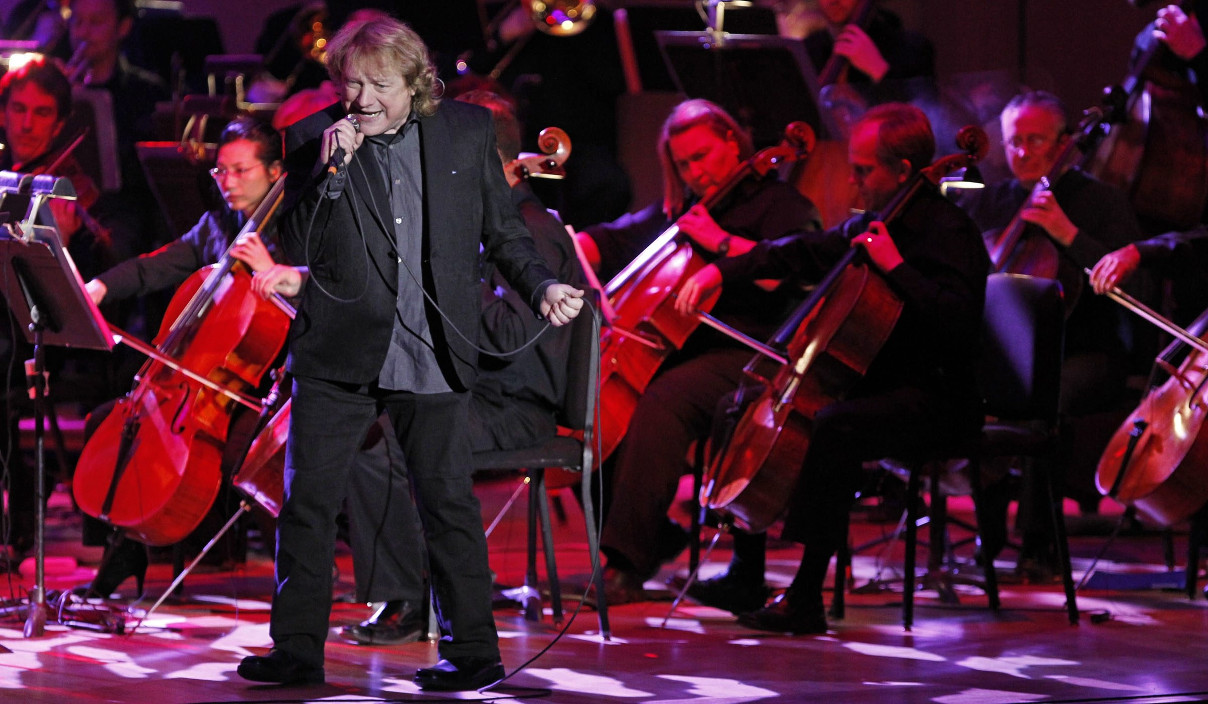 Lou Gramm, former lead singer with Foreigner, performs with the Buffalo Philharmonic Orchestra at Kleinhans Music Hall Friday night.