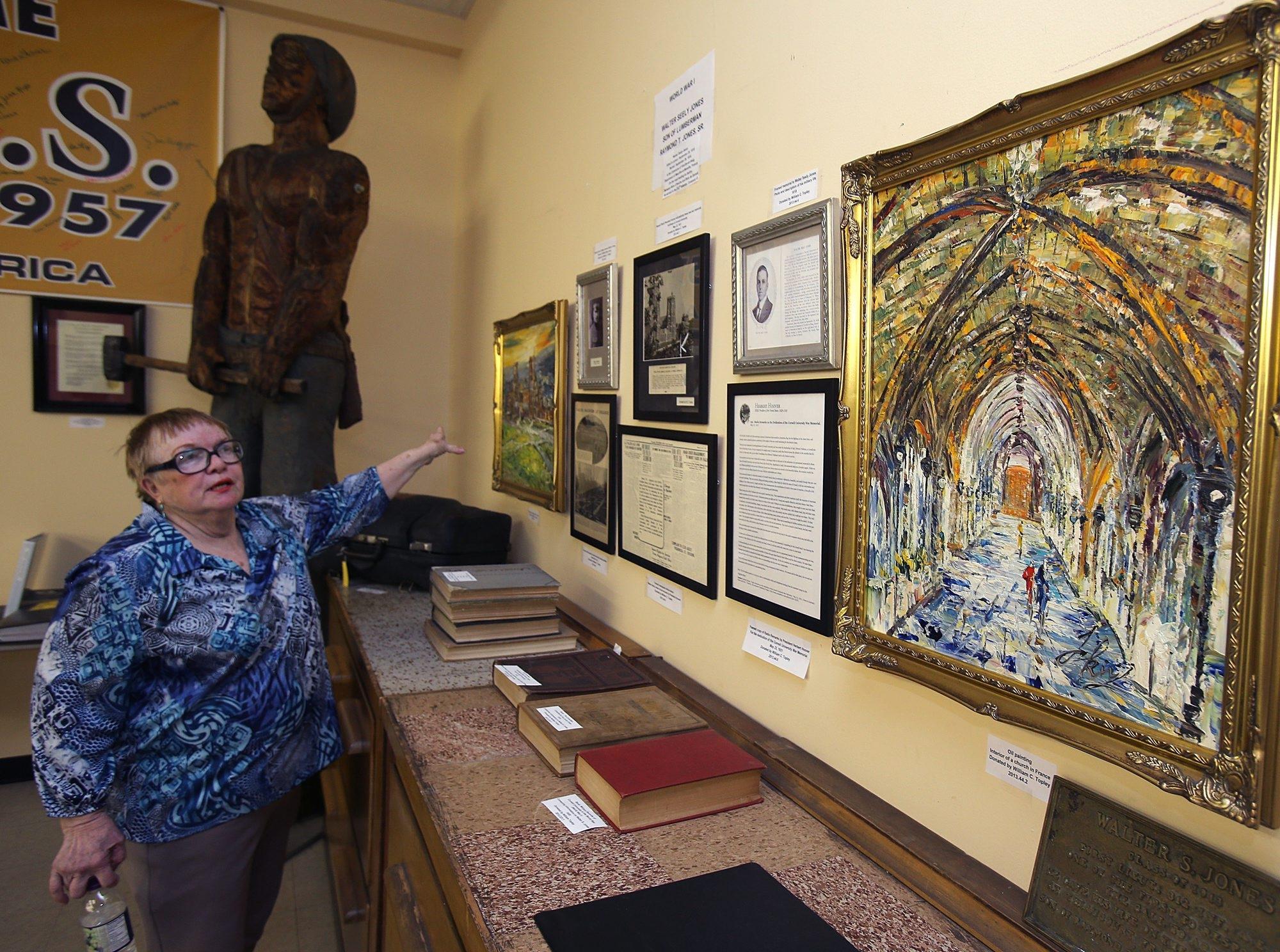 Donna Zellner Neal, Director, talks about a display inside the North Tonawanda History Museum in North Tonawanda, Thursday, June 27, 2013. (Charles Lewis/Buffalo News)