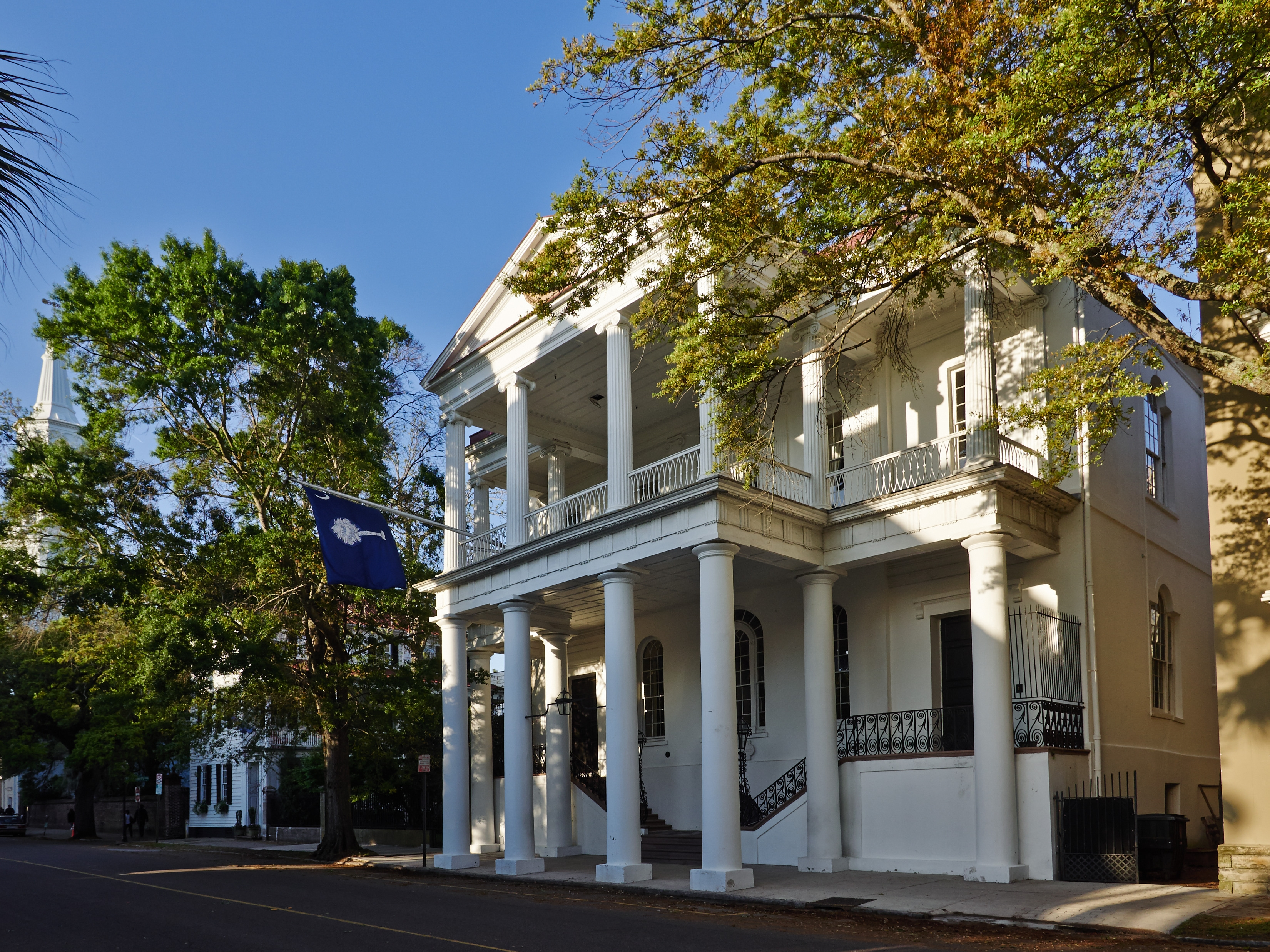 """The South Carolina Society Hall in Charleston, S.C., where many members of high society in the old-South city have been outraged by the depiction of Charleston on Bravo's reality show """"Southern Charm,"""" going so far as to organize hate-watching parties and ostracizing cast members."""