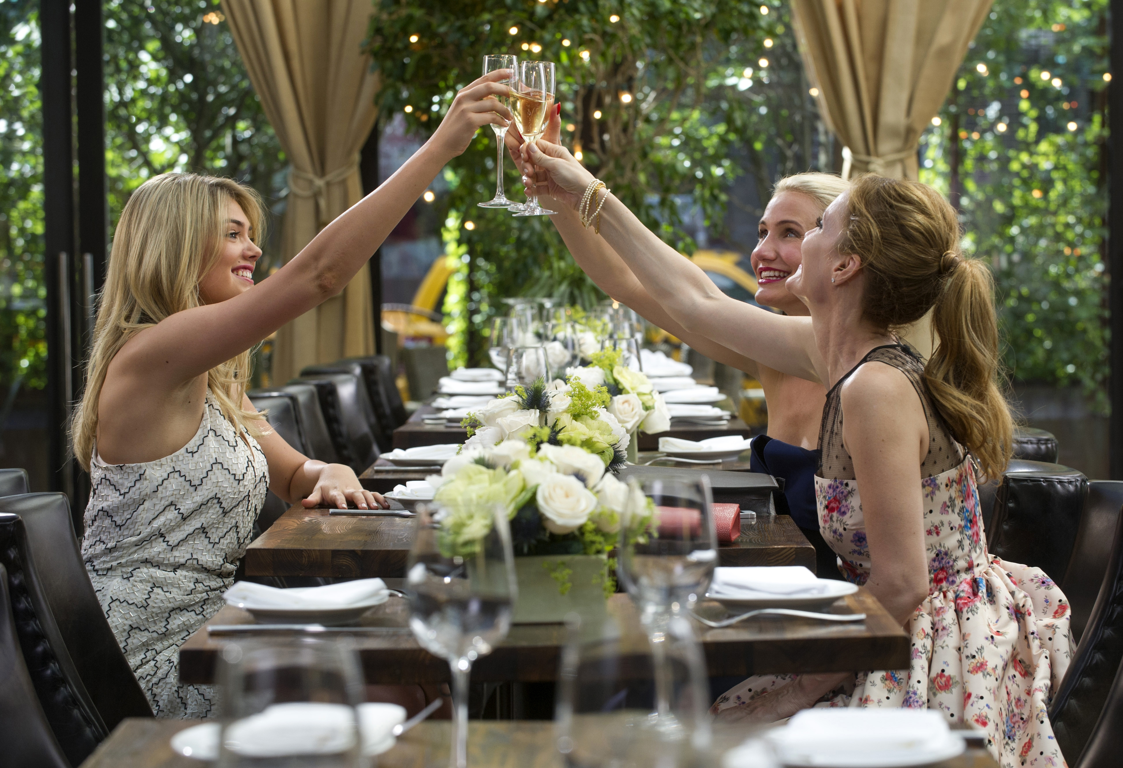 "From left, Kate Upton, Cameron Diaz and Leslie Mann play women on a mission in ""The Other Woman."""