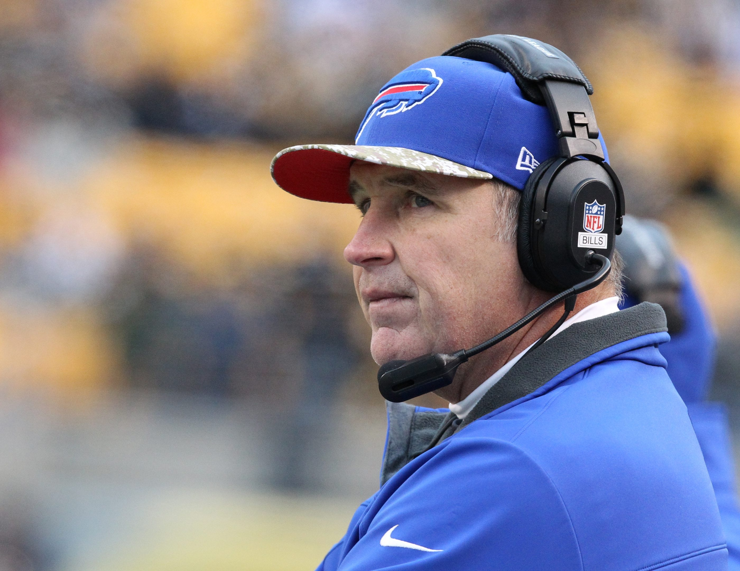 Buffalo Bills head coach Doug Marrone says removal of his cancerous mole won't affect his job. (James P. McCoy / Buffalo News file photo)