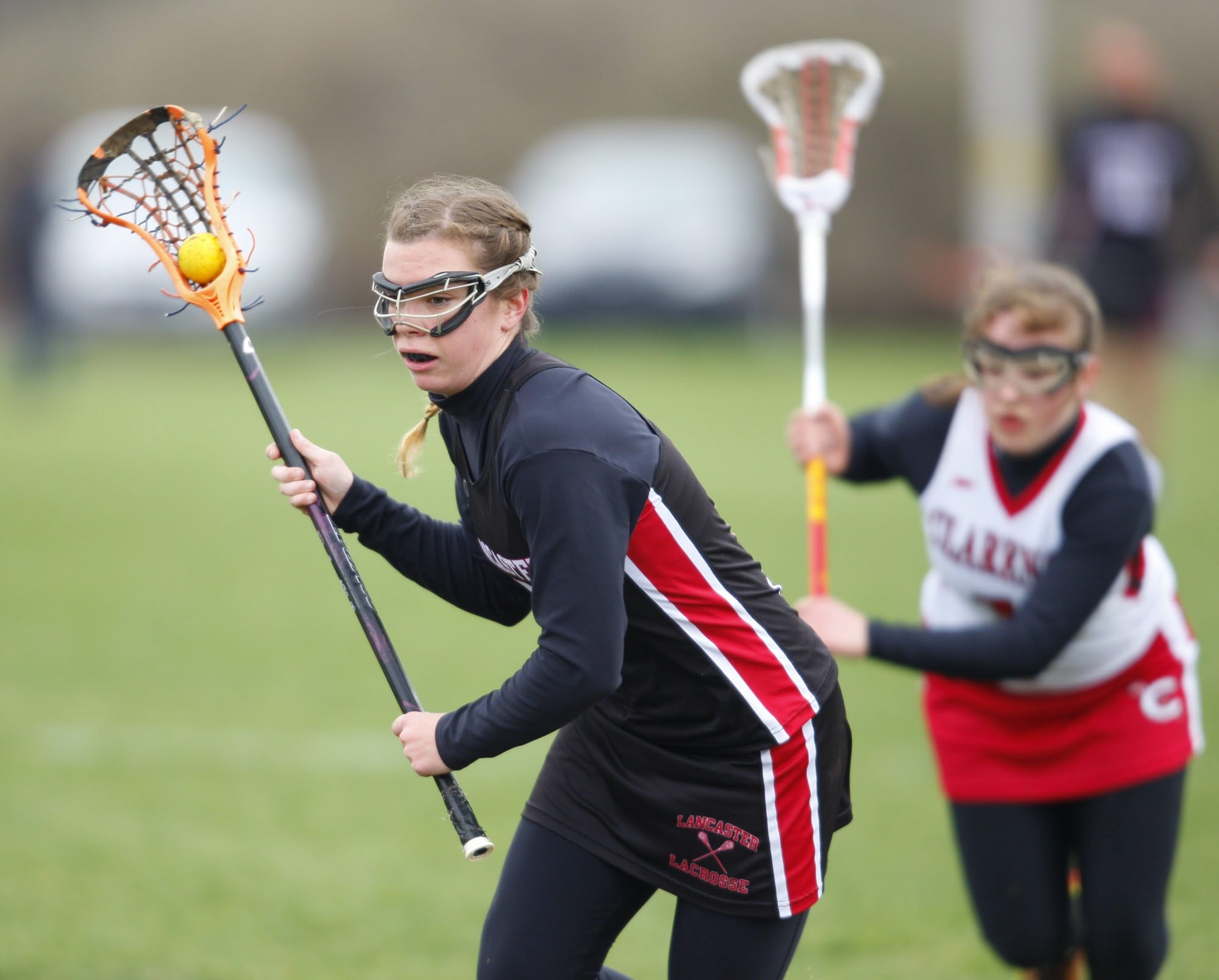 Lancaster's Grace Gabriel led her team with five goals and two assists in defeating Clarence.