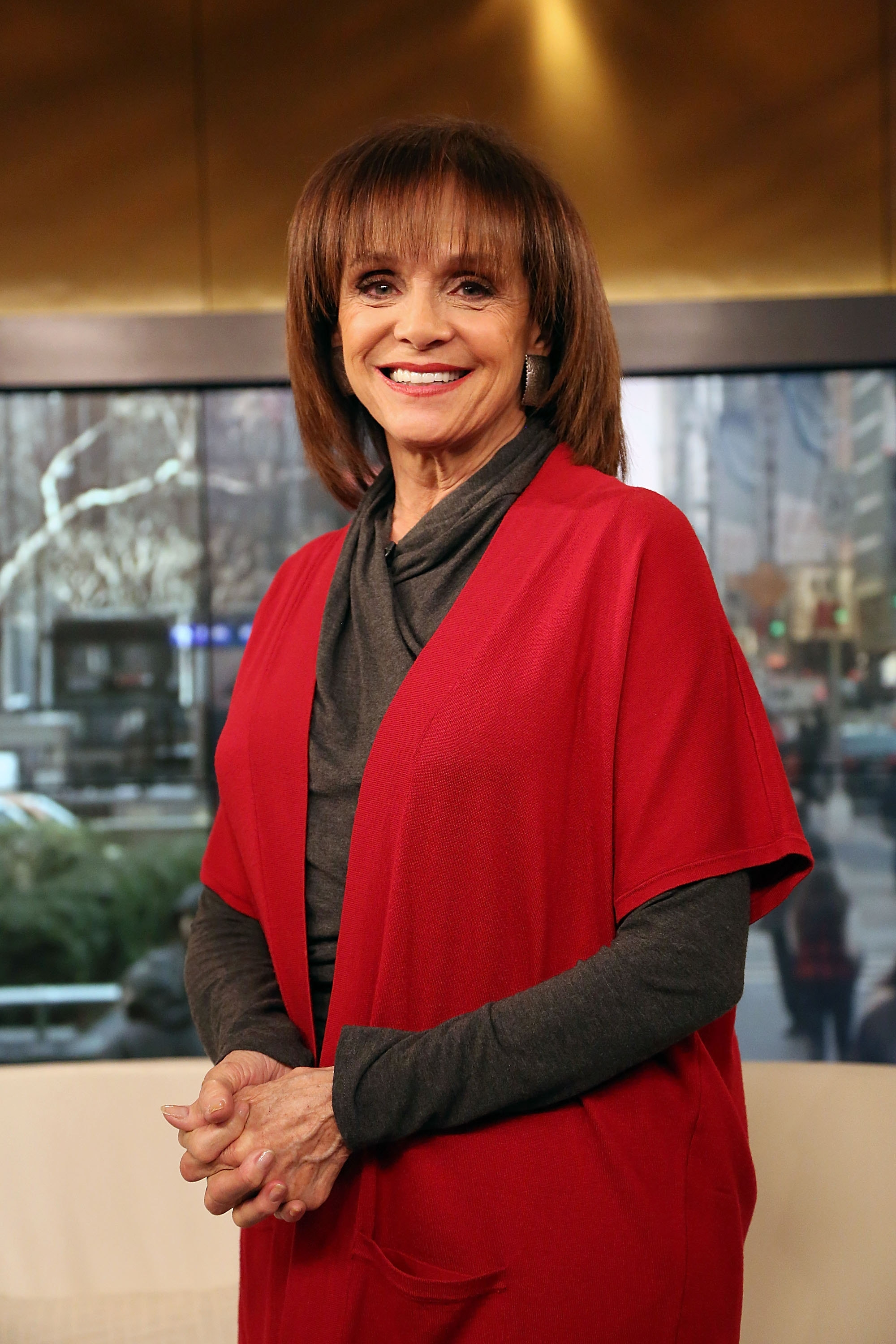 """Actress Valerie Harper, shown visiting """"Fox & Friends"""" last week, has kept an extraordinary pace since her cancer diagnosis."""