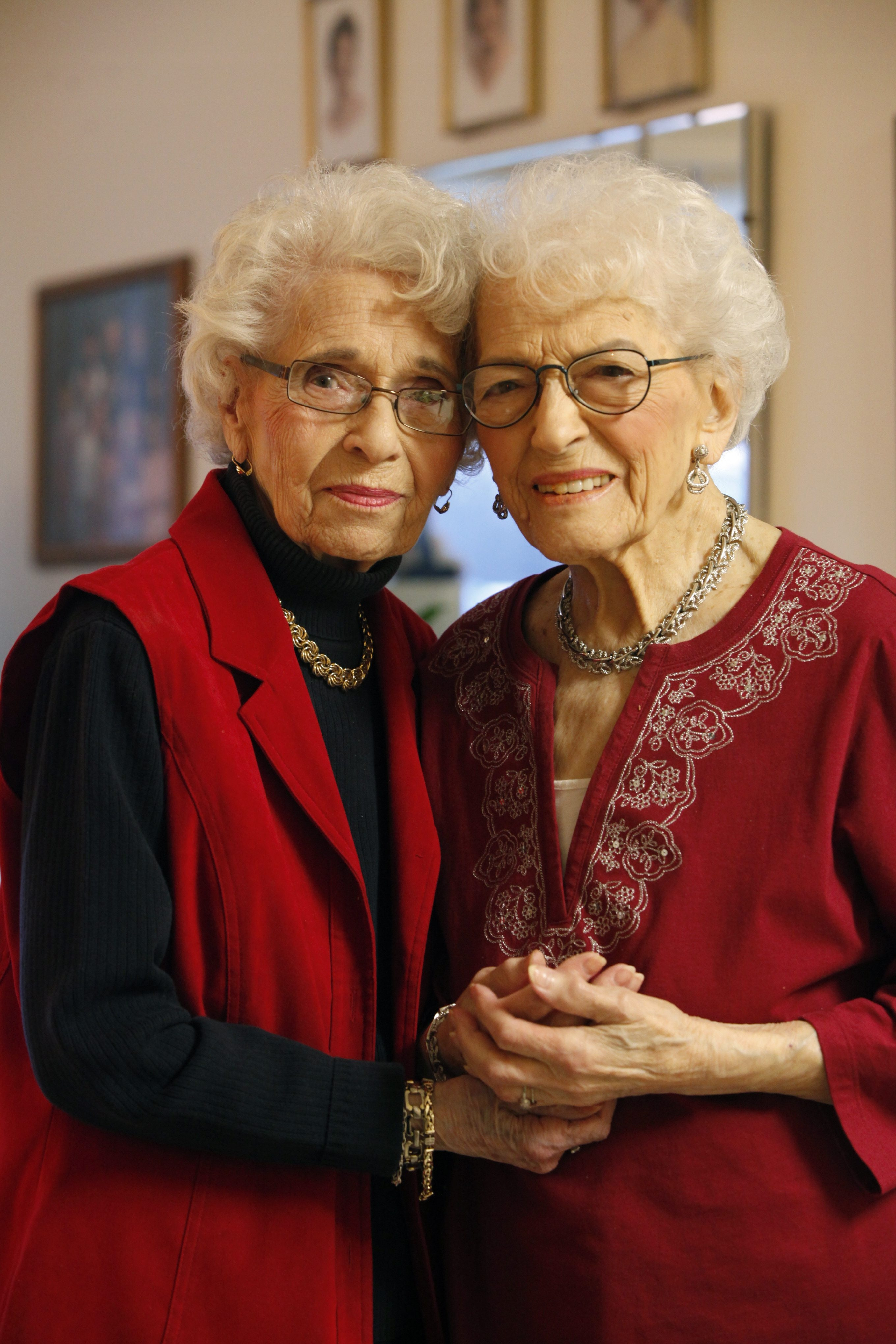 Louise Spampata, 99, left, and Nicoletta Sebastiano, 102, have stayed in touch through childhood, school, jobs and marriage.