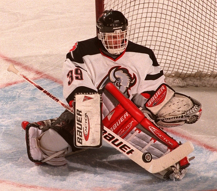 The Sabres' all-time best trade was 1992, when the team traded Stephane Beauregard and future considerations (fourth-round pick in 1993 - Eric Daze) to Chicago for Dominik Hasek, shown in a file photo. (Robert Kirkham/Buffalo News)