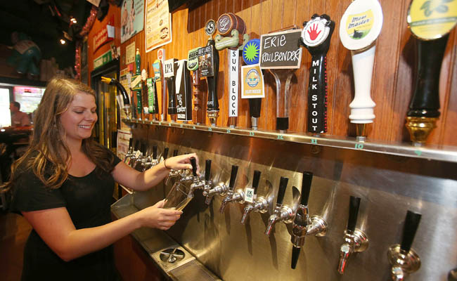 Pizza Plant is known for its craft beer selection. (Robert Kirkham/Buffalo News file photo)