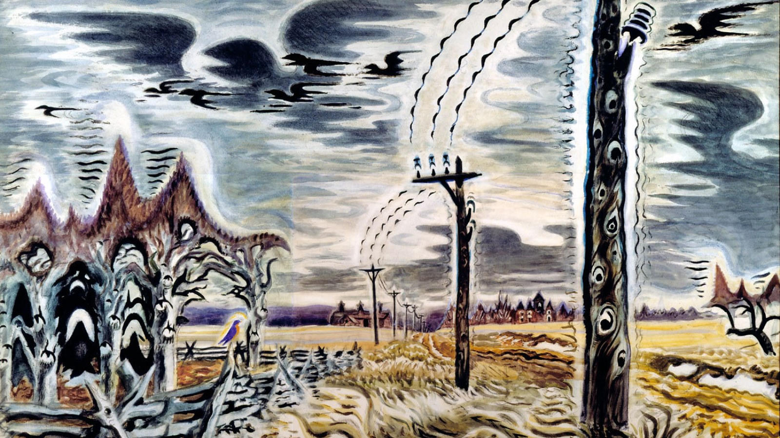 Charles Burchfield's 'Song of the Telegraph.'