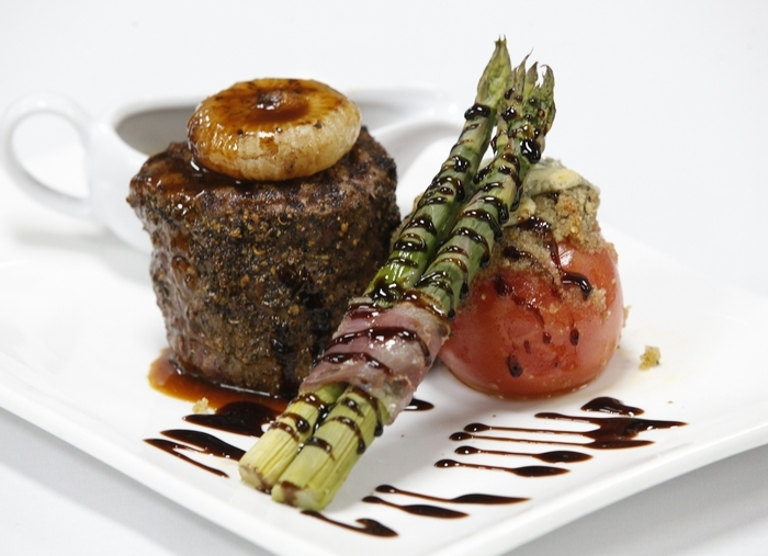 """Food Editor Andrew Galarneau said the steaks at Russell's were """"terrific."""" Photo by Harry Scull Jr. /Buffalo News"""