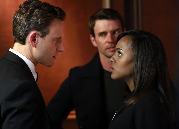 "ABC's ""Scandal,"" starring, from left, Tony Goldwyn, Scott Foley and Kerry Washington is more popular than ""Parenthood"" but less grounded."