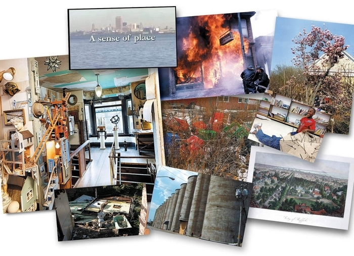"""Projects by Buffalo-based artists and activists, including architect Dennis Maher's sculpture-filled Fargo House, J-M Reed's photographs of Buffalo fires and Julian Montague's chroncile of stray shopping carts, appear in """"Ineffably Urban: Imagining Buffalo."""" The book, according to editor Miriam Paeslack, is a collection of viewpoints that counter """"the tired tropes of the city between glory and demise."""""""