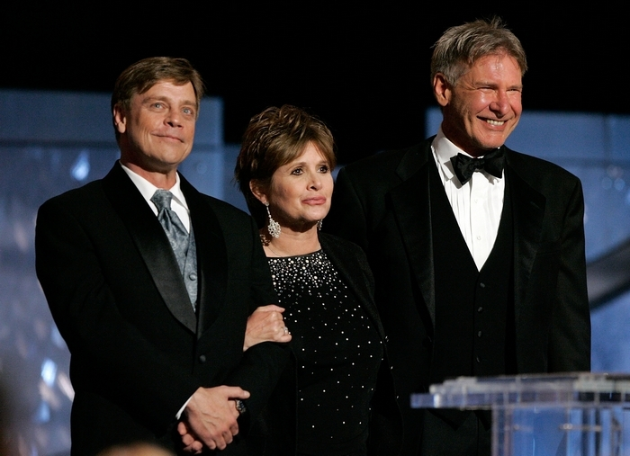 Actors Harrison Ford, Carrie Fisher and Mark Hamill have been included in the cast for 'Star Wars: Episode VII.' (Getty Images)