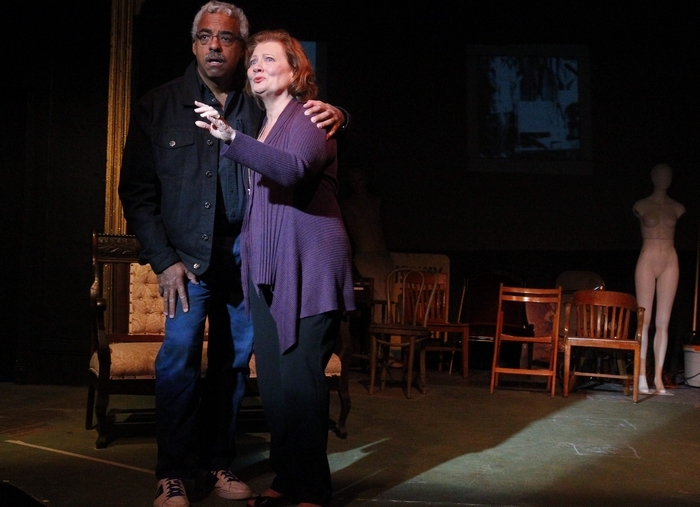 "Gary Earl Ross and Barbara Link LaRou star in A.R. Gurney's ""Buffalo Gal,"" opening Friday in the New Phoenix Theatre. (John Hickey/Buffalo News)"