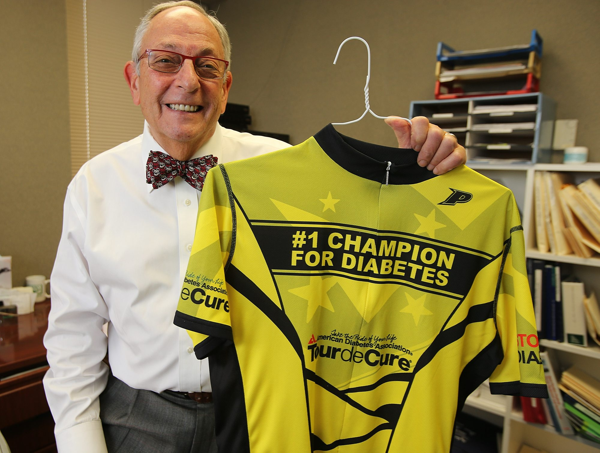 """As the population became more and more obese, the incidence of diabetes rose,"" said Dr. Jeffrey Carrel, who will be riding in his 20th Tour de Cure to benefit diabetes research"