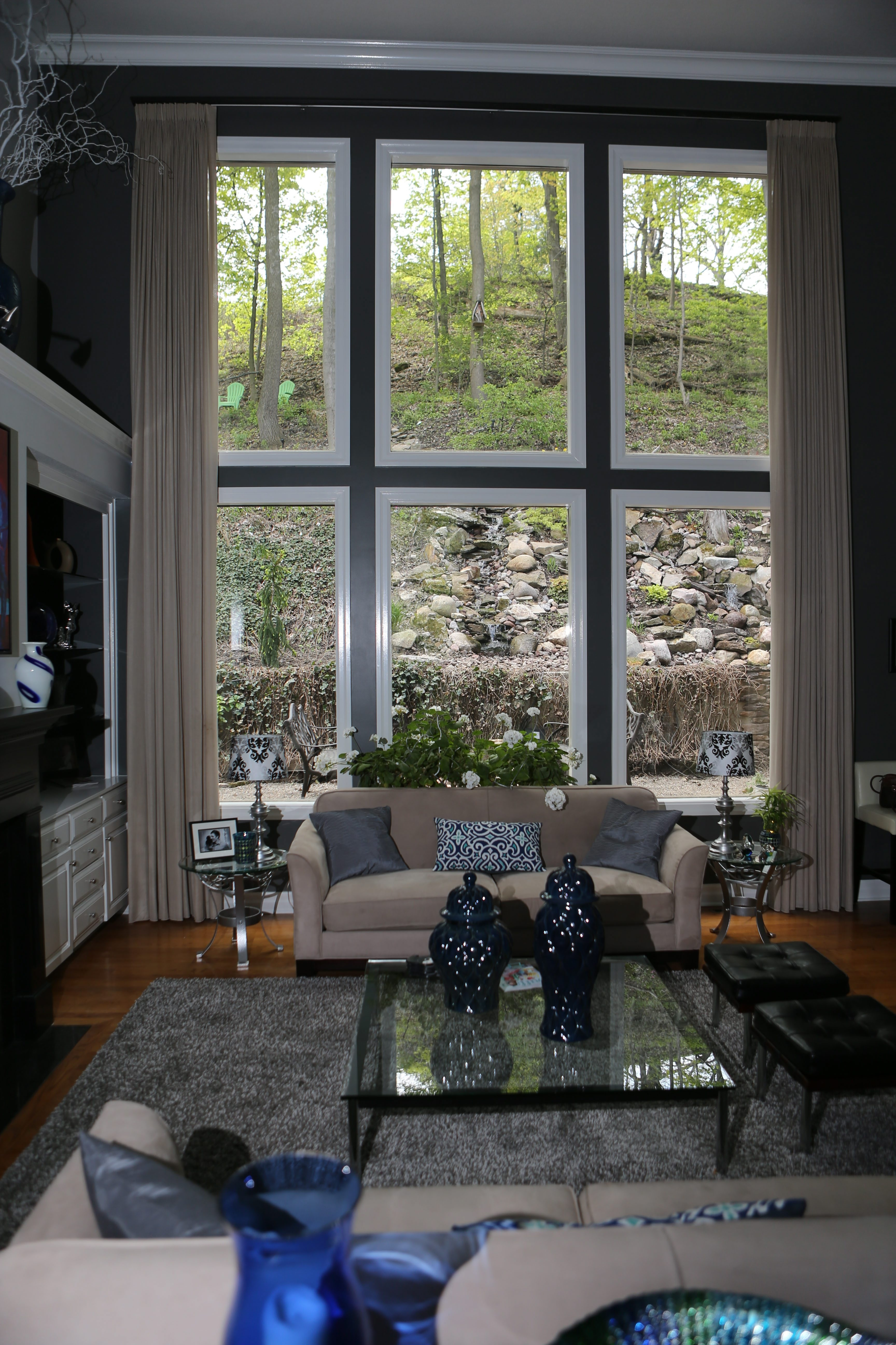 This is the view out of the living room windows of Greg and Judy Gima's home nestled at the foot of the Niagara Escarpment in Lewiston.
