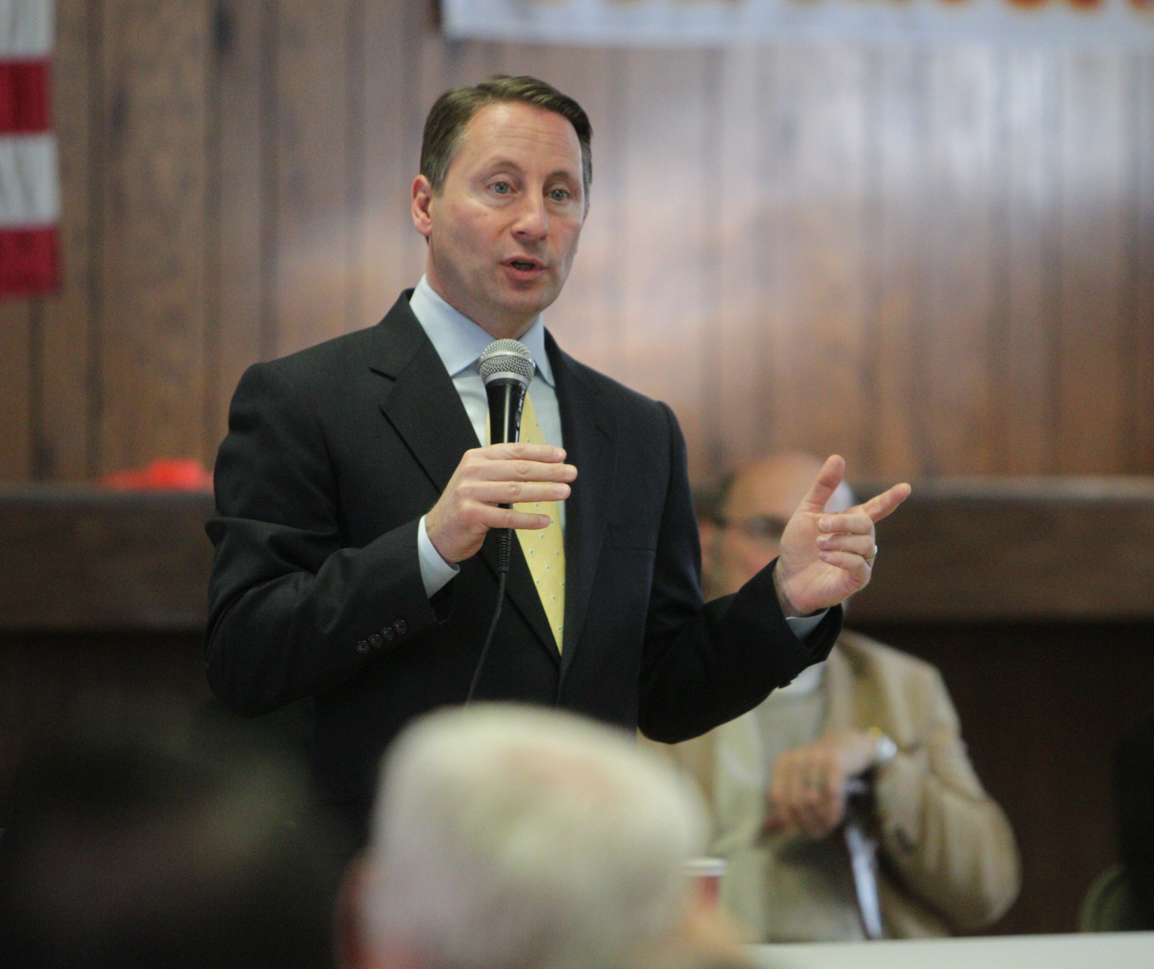 Republican gubernatorial candidate Rob Astorino attended the Erie County GOP Chairman's Roundtable at the VFW Post 416 in Williamsville on April 12, where he answered questions from the audience.