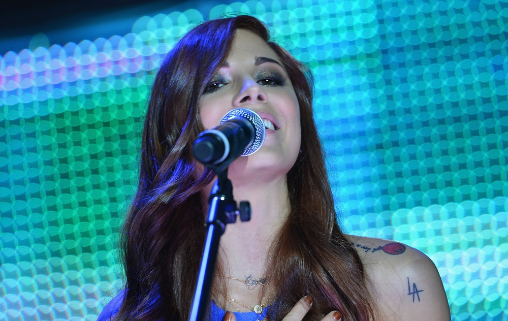 Christina Perri, seen performing here in Beverly Hills, Calif. in January 2013, will visit the UB CFA late this summer.  (Photo by Alberto E. Rodriguez/Getty Images)