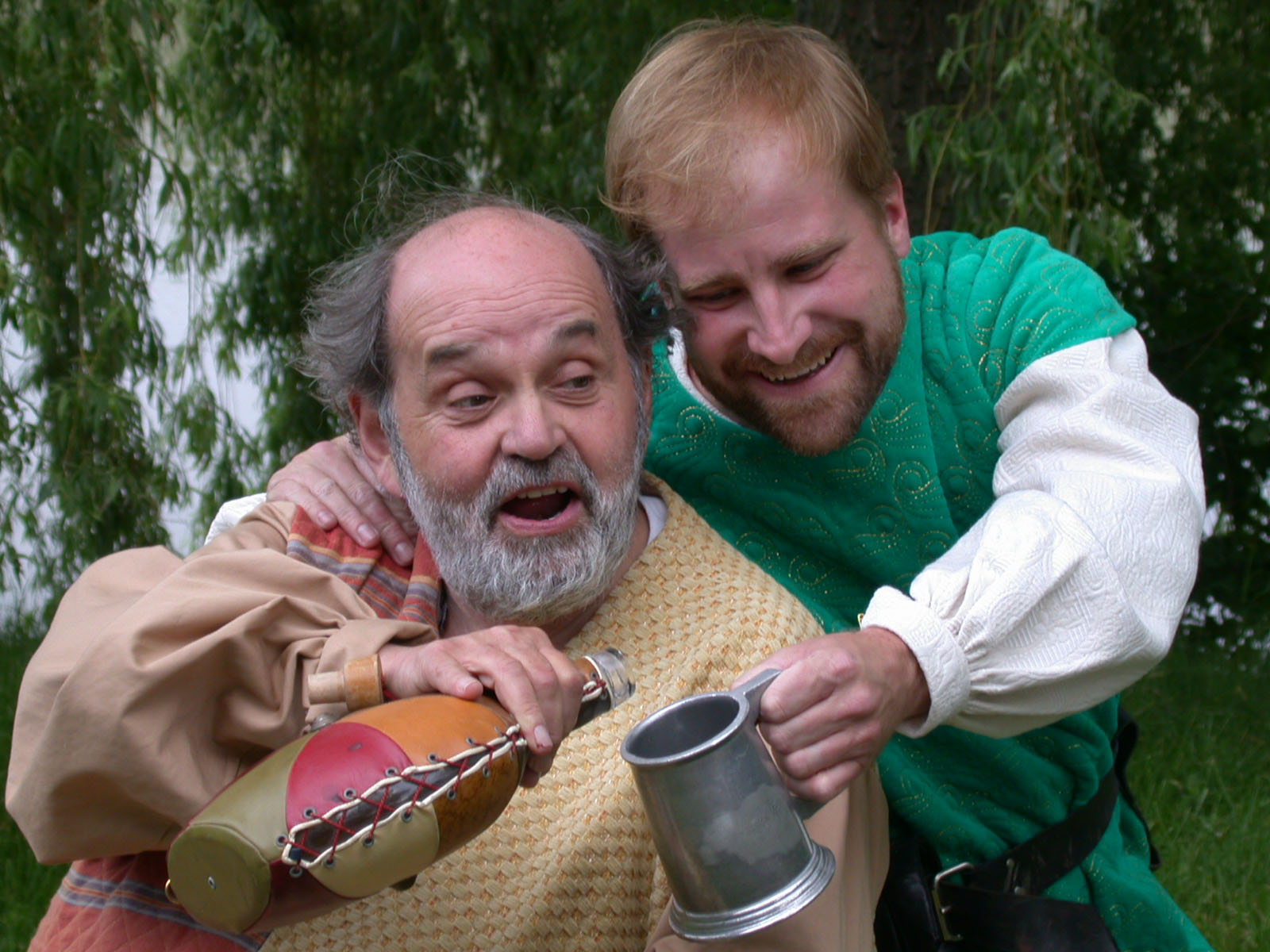 Saul Elkin was Falstaff and Christian Brandjes was Prince Hal in Shakespeare in Delaware Park's 2004 production of 'Henery IV, Part 1.'
