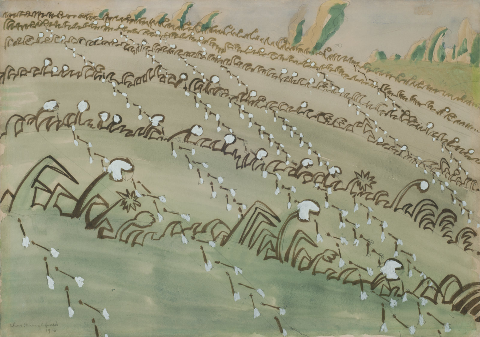 """Dandelion Field,"" a painting by Charles E. Burchfield, was recently acquired by the Burchfield Penney Art Center."