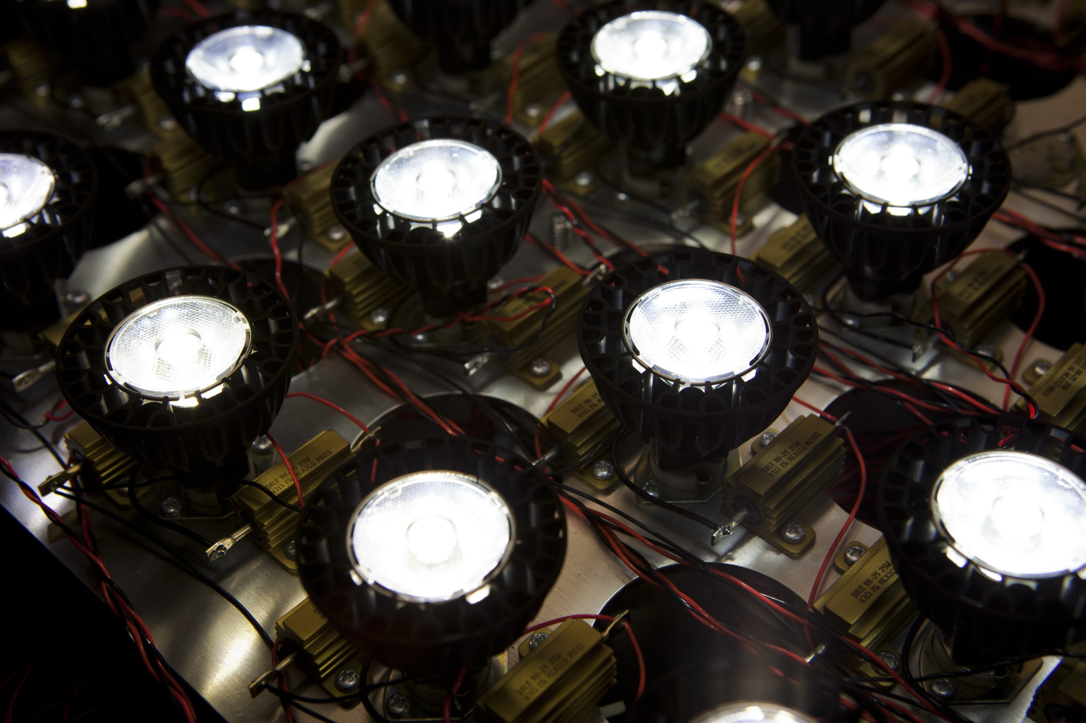 LED lights are tested in Soraa's laboratory. The company says its bulbs more closely match the light that comes from the sun.