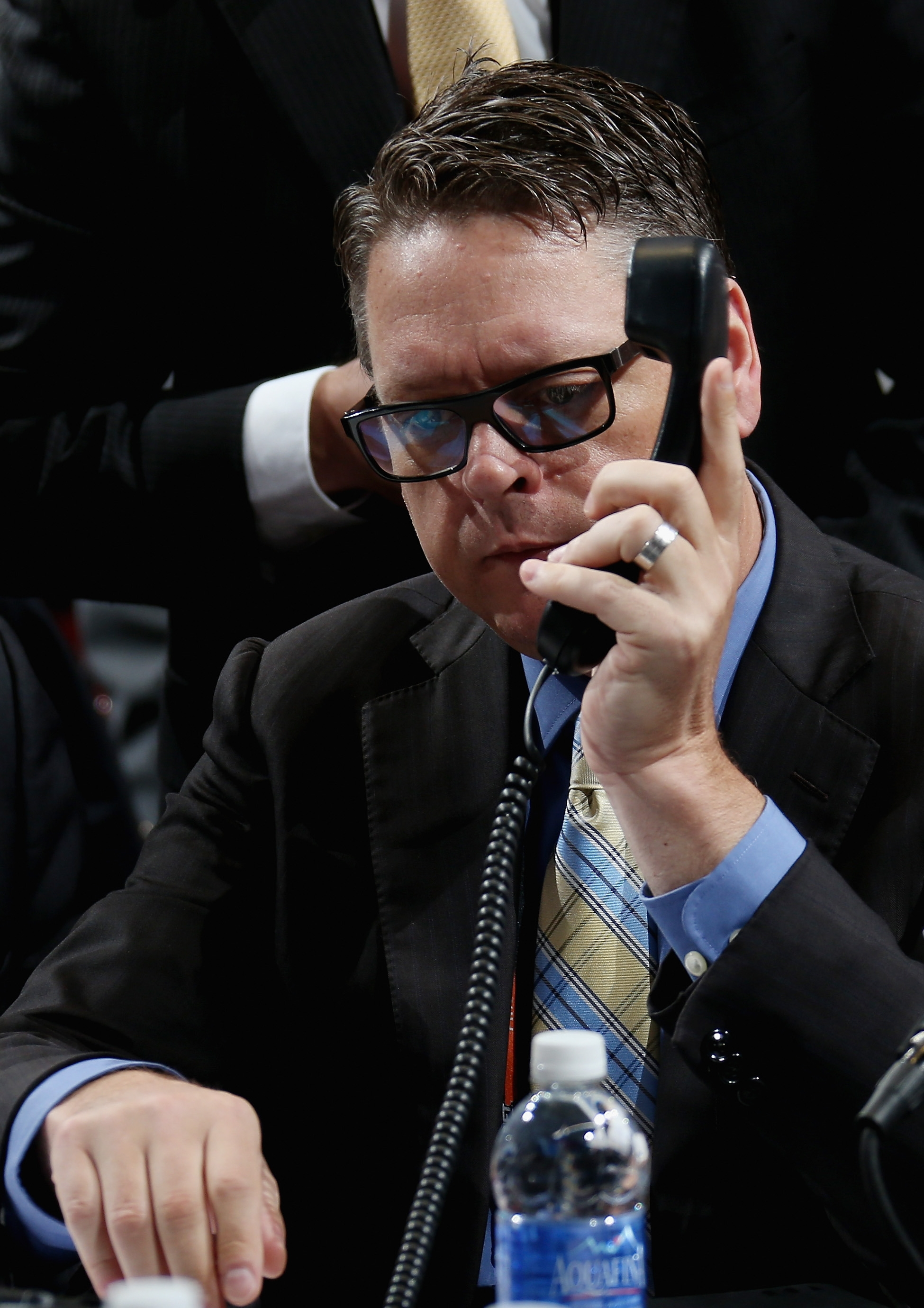 Although general manager Tim Murray couldn't wheel and deal his way back into the first round, he's pleased with how the draft went for the Sabres.  (Photo by Bruce Bennett/Getty Images)