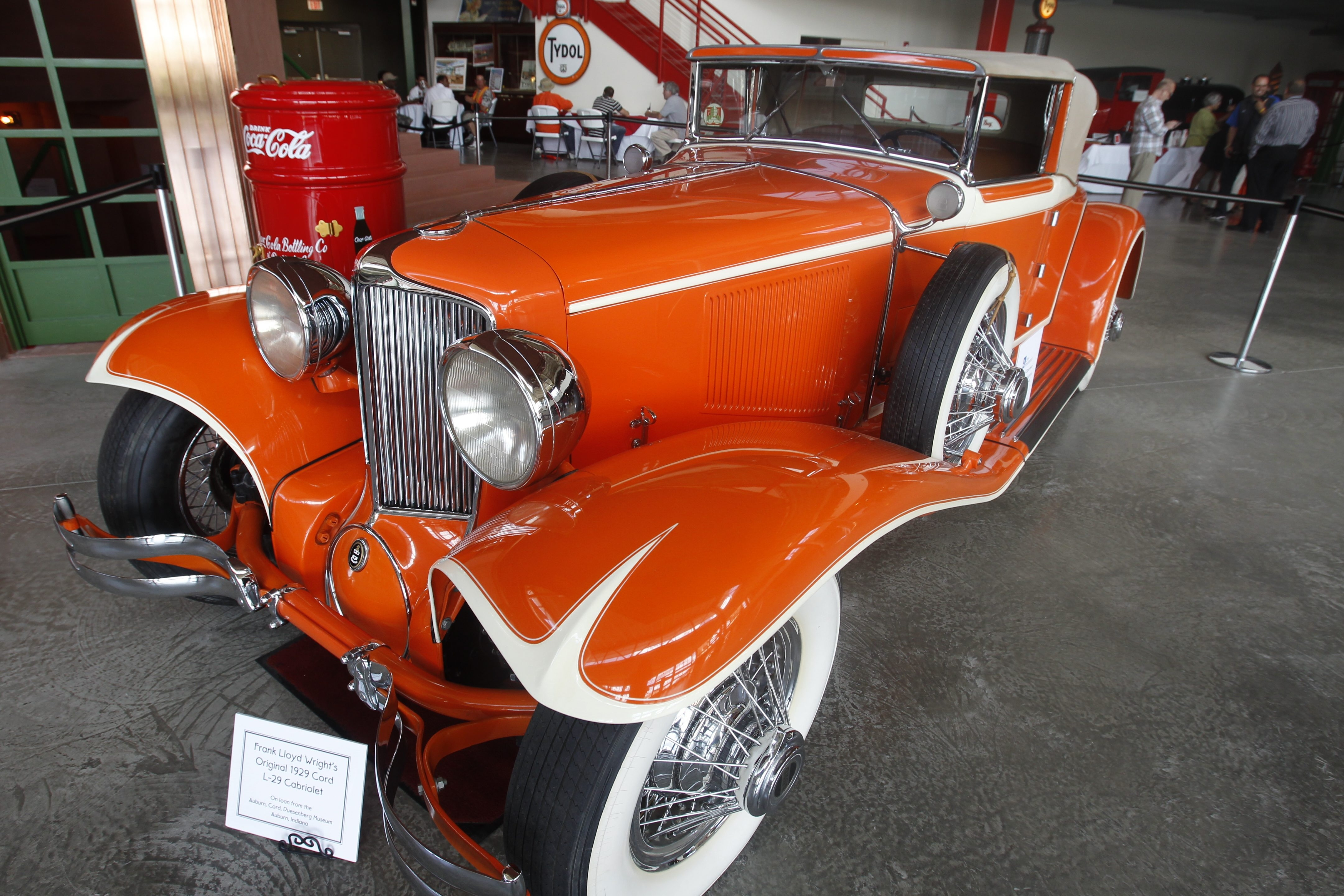 Frank Lloyd Wright once owned this 1929 Cord L-29 Cabriolet, currently on loan from the Auburn Cord Duesenberg Museum  at the Buffalo Transportation Pierce-Arrow Museum.