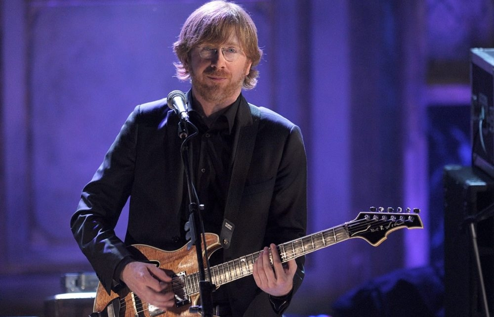 Trey Anastasio of Phish, whose latest disc, 'Fuego,' earned a glowing review from Jeff Miers, performs here in New York City in 2010.  (Photo by Michael Loccisano/Getty Images)