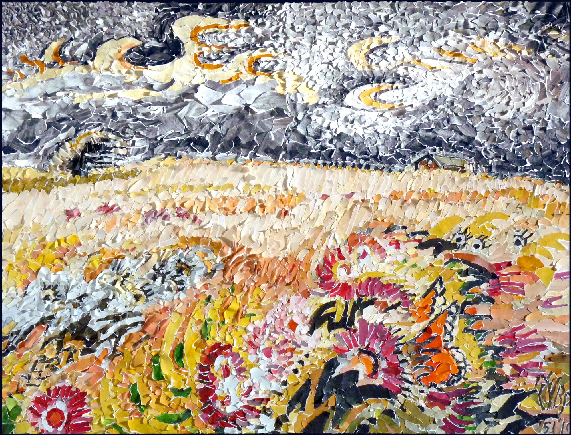 """A re-creation of Charles Burchfield's painting """"Windblown Astors"""" by Ben Perrone is part of Casa de Arte's """"The Mexican Experience and More."""""""