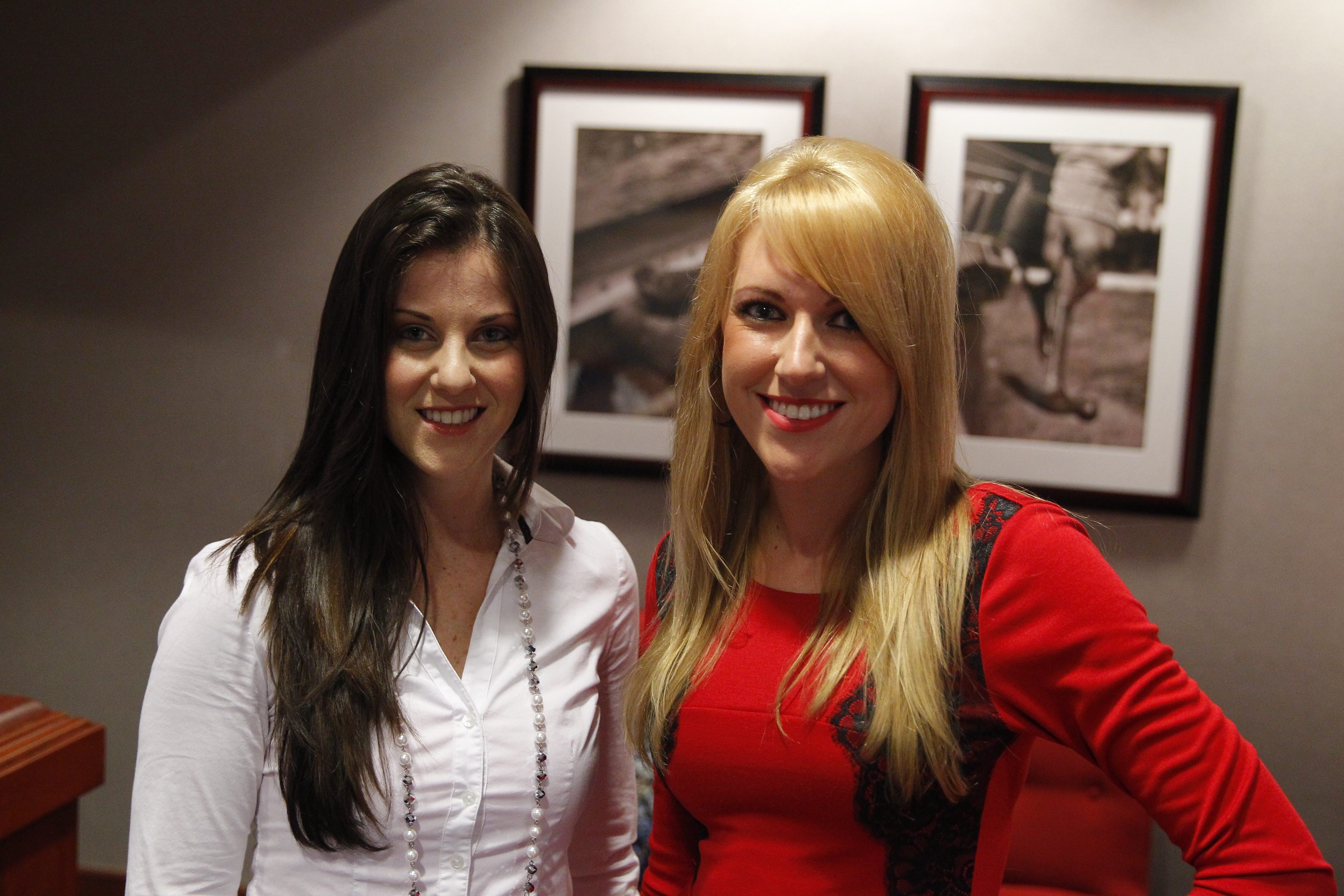 "Maria on left, and Alyssa, two of five former Buffalo Jills who sued the Bills for not paying them the minimum wage for their appearances at Bills games and events and for the degrading treatment they received at some events, were interviewed by HBO's Andrea Kremer. The interviews will air at 10 p.m. Tuesday during HBO's ""Real Sports"" magazine show.. (John Hickey / Buffalo News)"