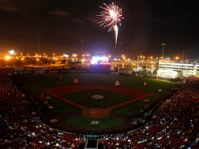 The fireworks at Coca-Cola Field with the Buffalo Philharmonic Orchestra playing are among the area's most popular. (John Hickey/Buffalo News)