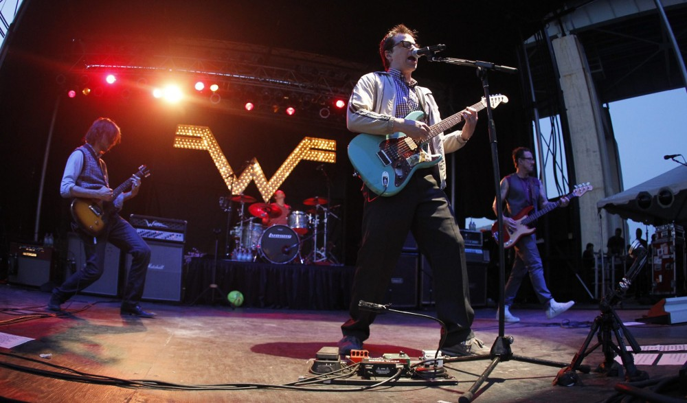 Weezer, which headlines EdgeFest in August, performs at Canalside back in July 2012.{Photo by Harry Scull Jr. / Buffalo News file photo}