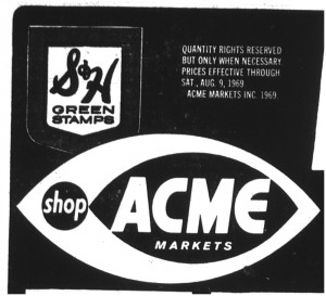 07 aug 1969 acme s&h stamps