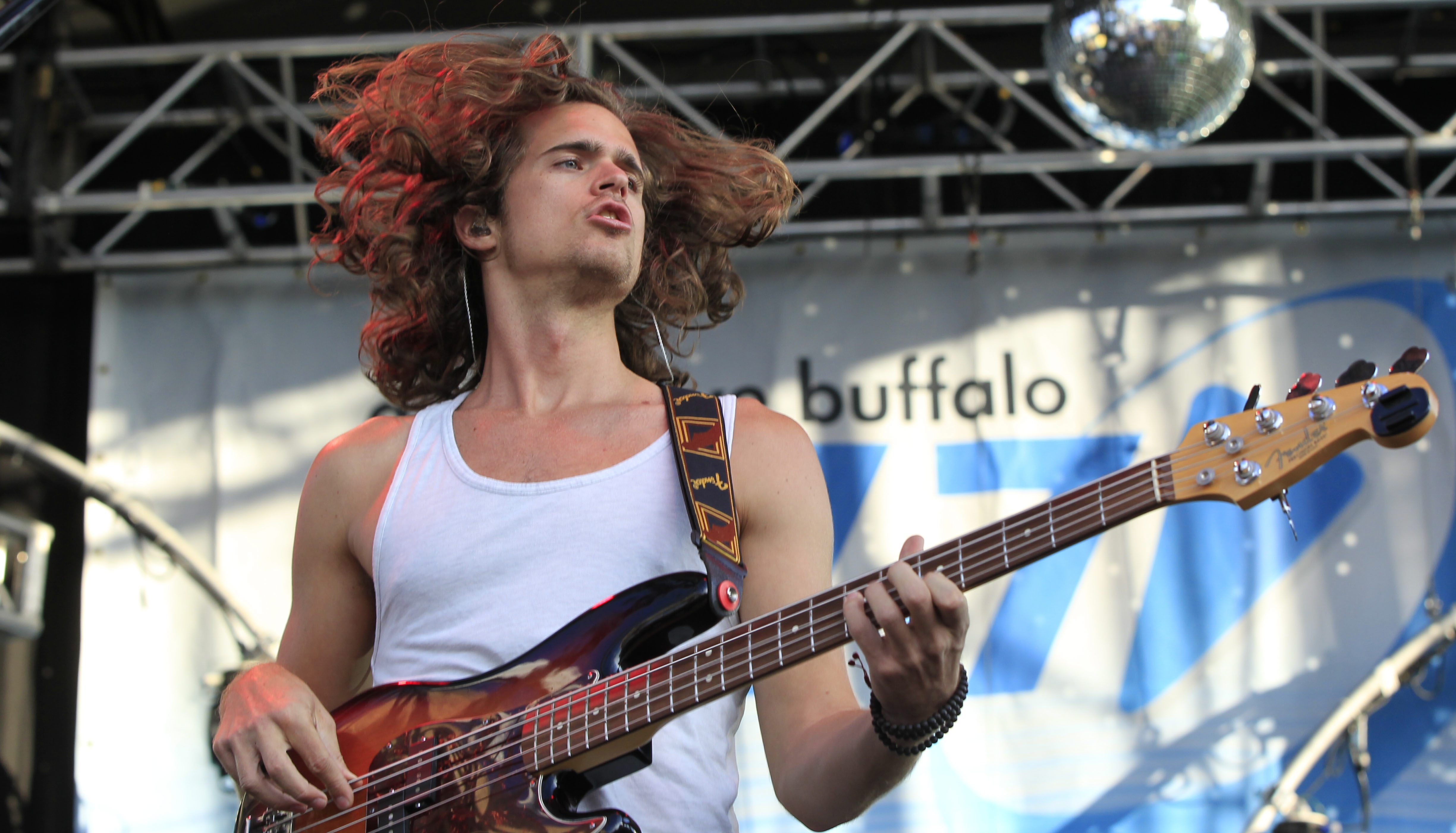 Dylan Kongos of the band KONGOS performs at Kerfuffle at Canalside on Saturday. (Harry Scull Jr./Buffalo News)