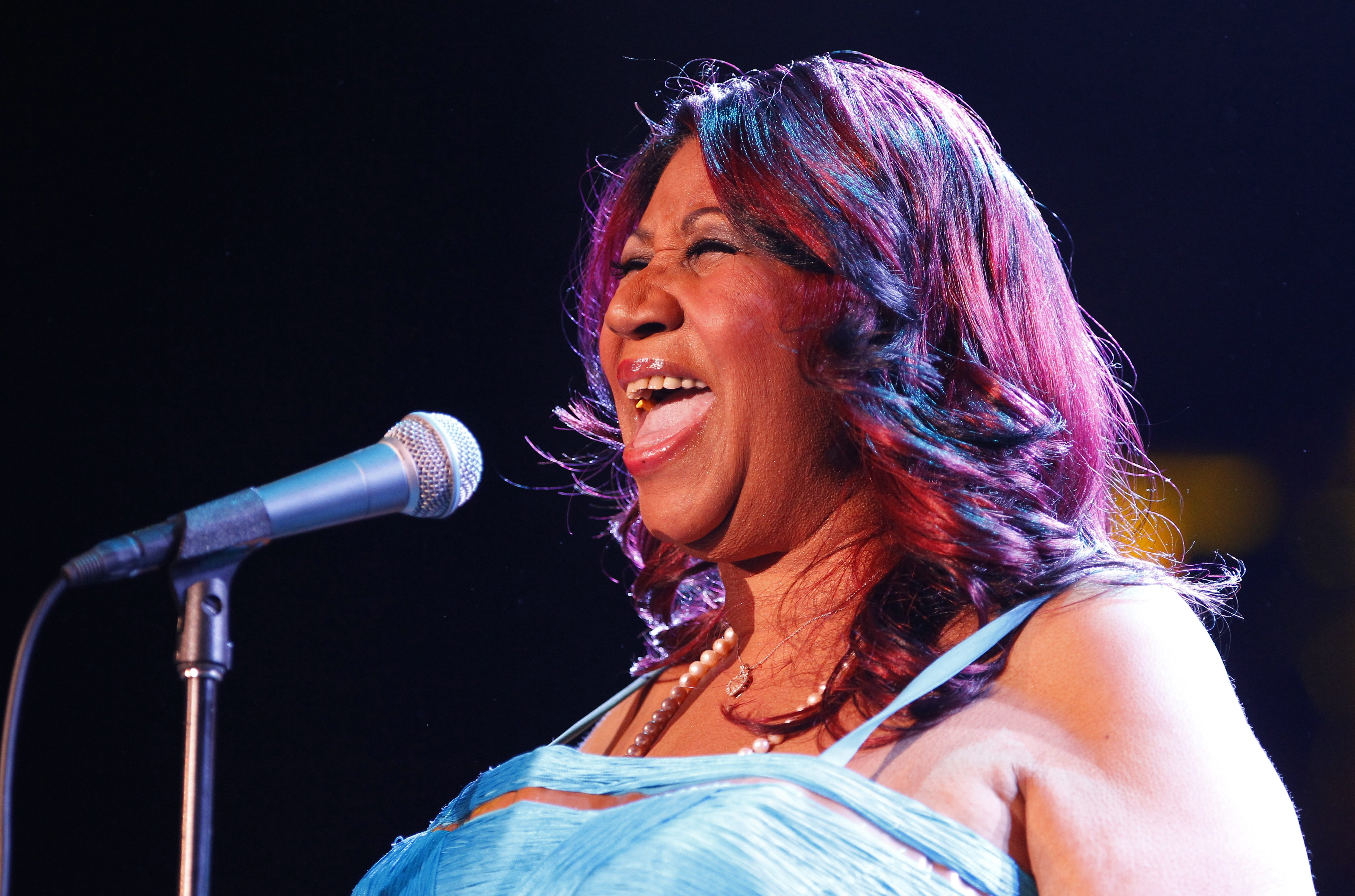 Aretha Franklin performs and the Seneca Niagara Casino on March 2, 2013.