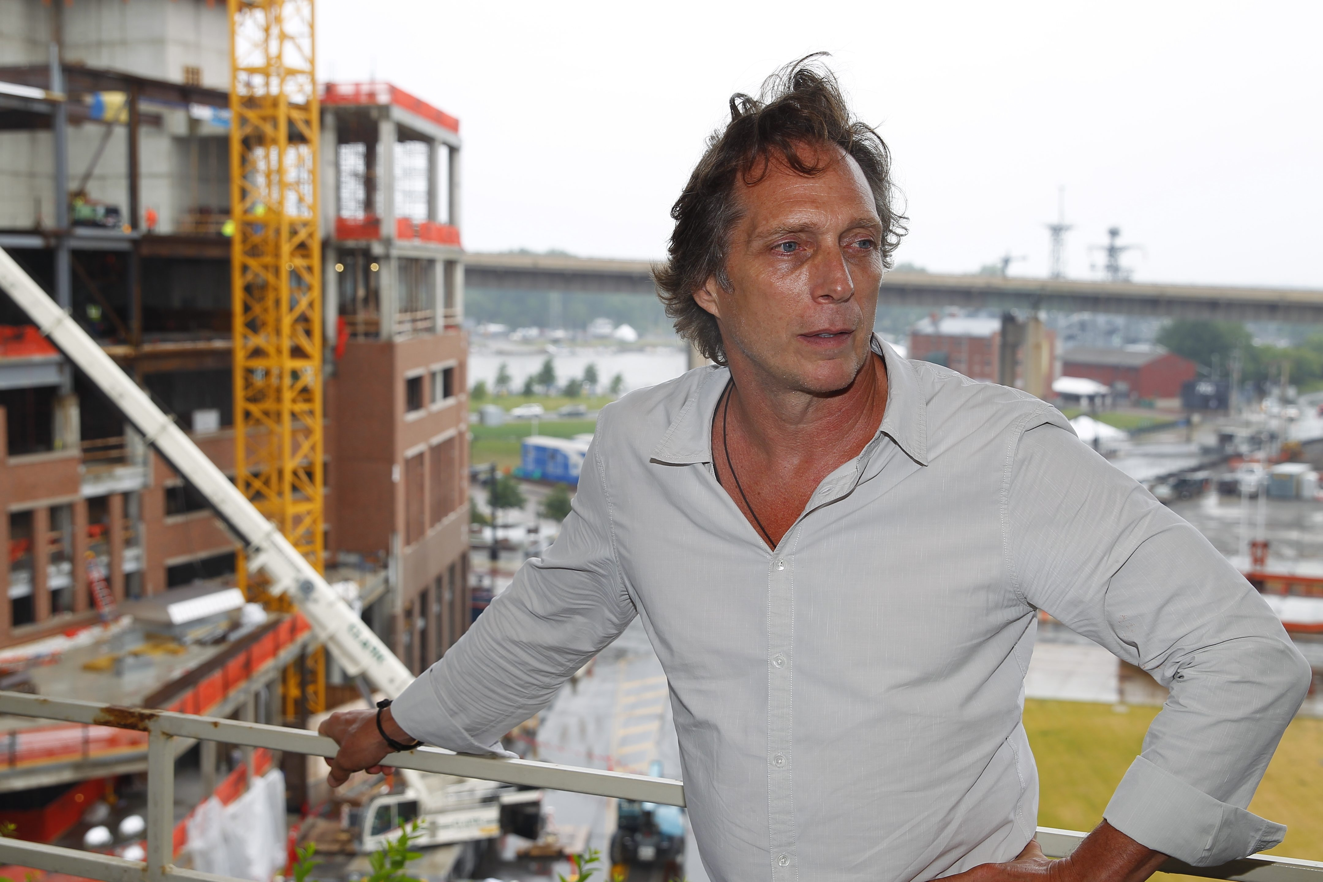 Former Cheektowaga resident William Fichtner, one of Hollywood's most recognized actors, is home this summer drumming up interest and support for an independent film he would like to make in Western New York. (John Hickey/Buffalo News)