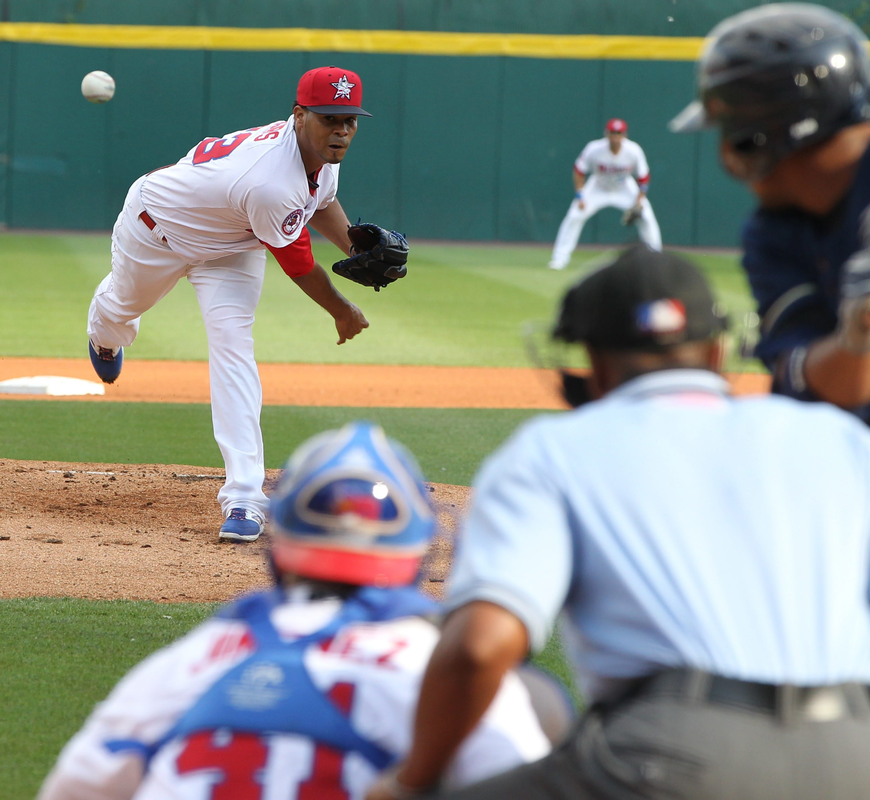 Buffalo's Esmil Rogers had a no-decision against Scranton/Wilkes Barre Thursday. View a photo gallery at BuffaloNews.com.