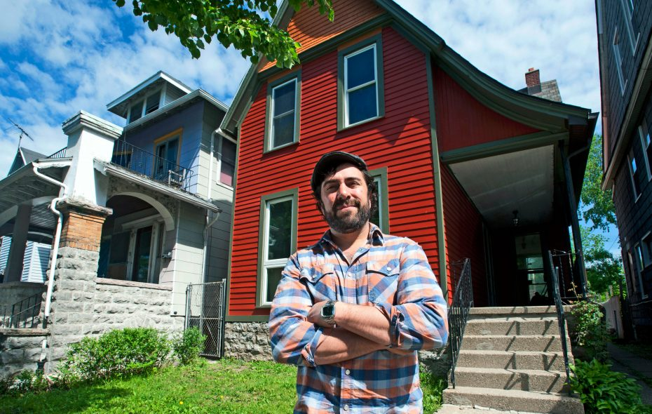 Real estate rehabber Rob Karp is invested in the success of Buffalo's West Side. (Michael P. Majewski)