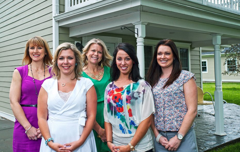 Kim Clancy, Beth Stablewski, Wendy Januchowski, Mariah Hoeber and Kelly Waples make up the Elizabeth Stablewski group, who use a team approach to buying and selling local homes.