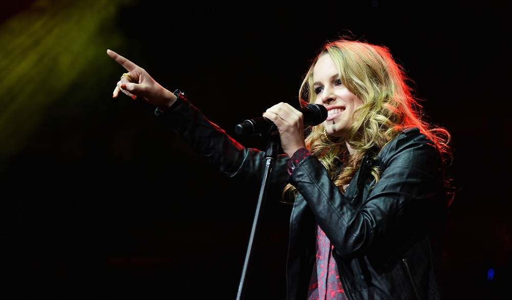 Bridgit Mendler, seen above at a Philadelphia concert in 2012, will perform at the Erie County Fair. (Jason Kempin / Getty Images)