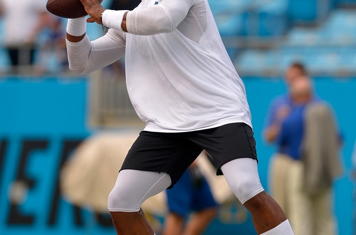 Carolina quarterback Cam Newton rested his tender ankle against the Buffalo Bills Friday. (Getty Images)
