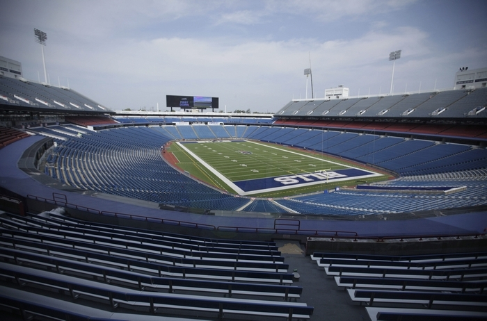 Ralph Wilson Stadium is undergoing $130 million in renovations. (Derek Gee/Buffalo News)
