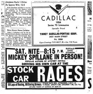 20 aug 1954 rockpile stock cars mickey spillane maxson cad